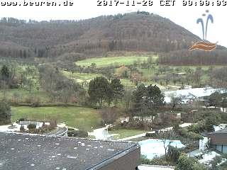 Die Webcam mit Blick von der Panorama Therme Beuren auf den Hohenneuffen.
